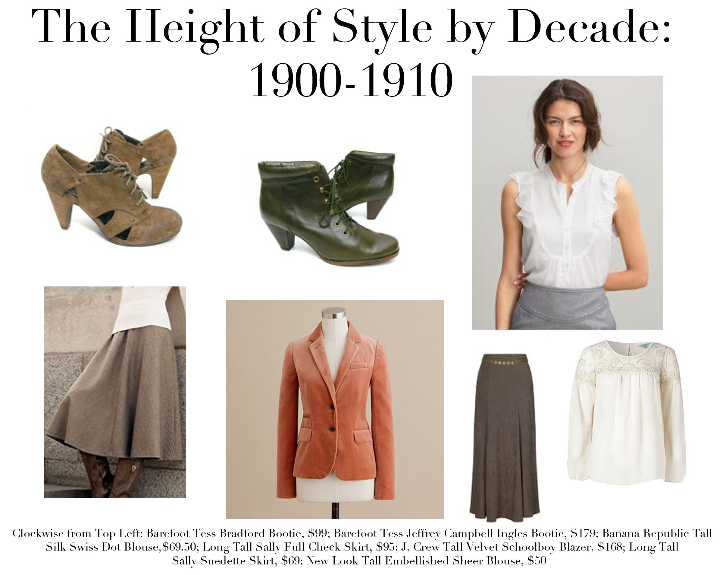 The Height of Style / The Height of Style by Decade: 1900 ...