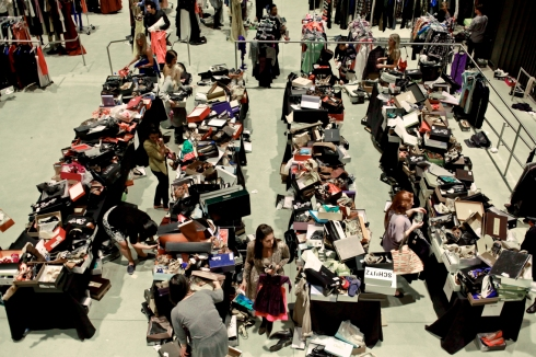 Aisles and aisles of great goods at the Gilt City Warehouse Sale...