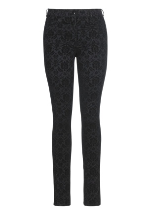 Long Tall Sally's Baroque Flocked Jeans ($99)