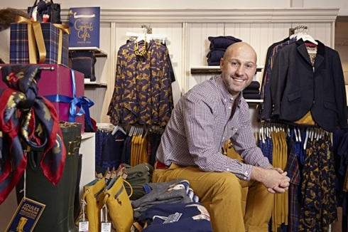 The ever-dapper Tom Joule, founder of lifestyle brand Joules